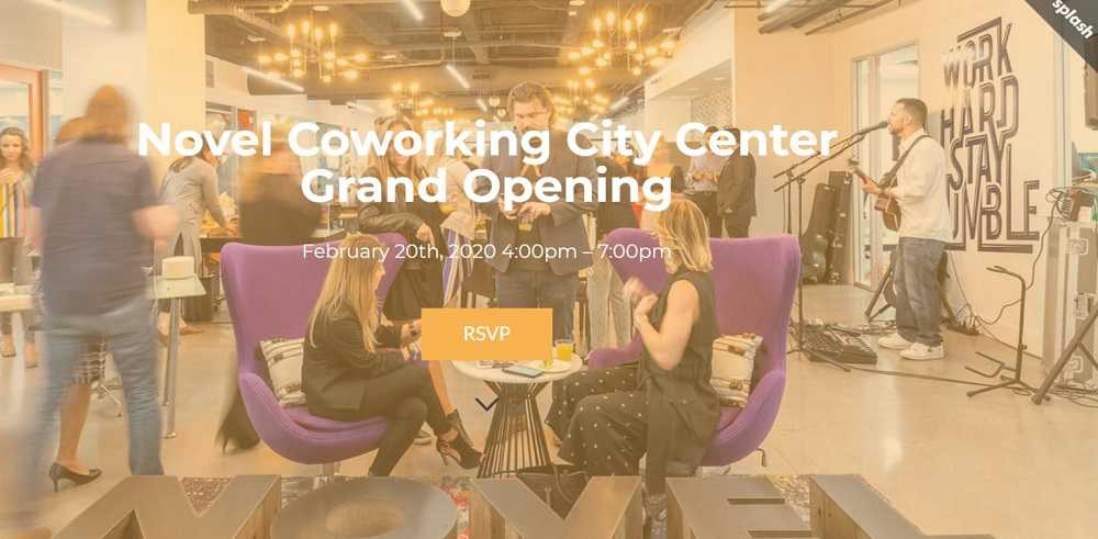 Novel Coworking City Center's Grand Opening