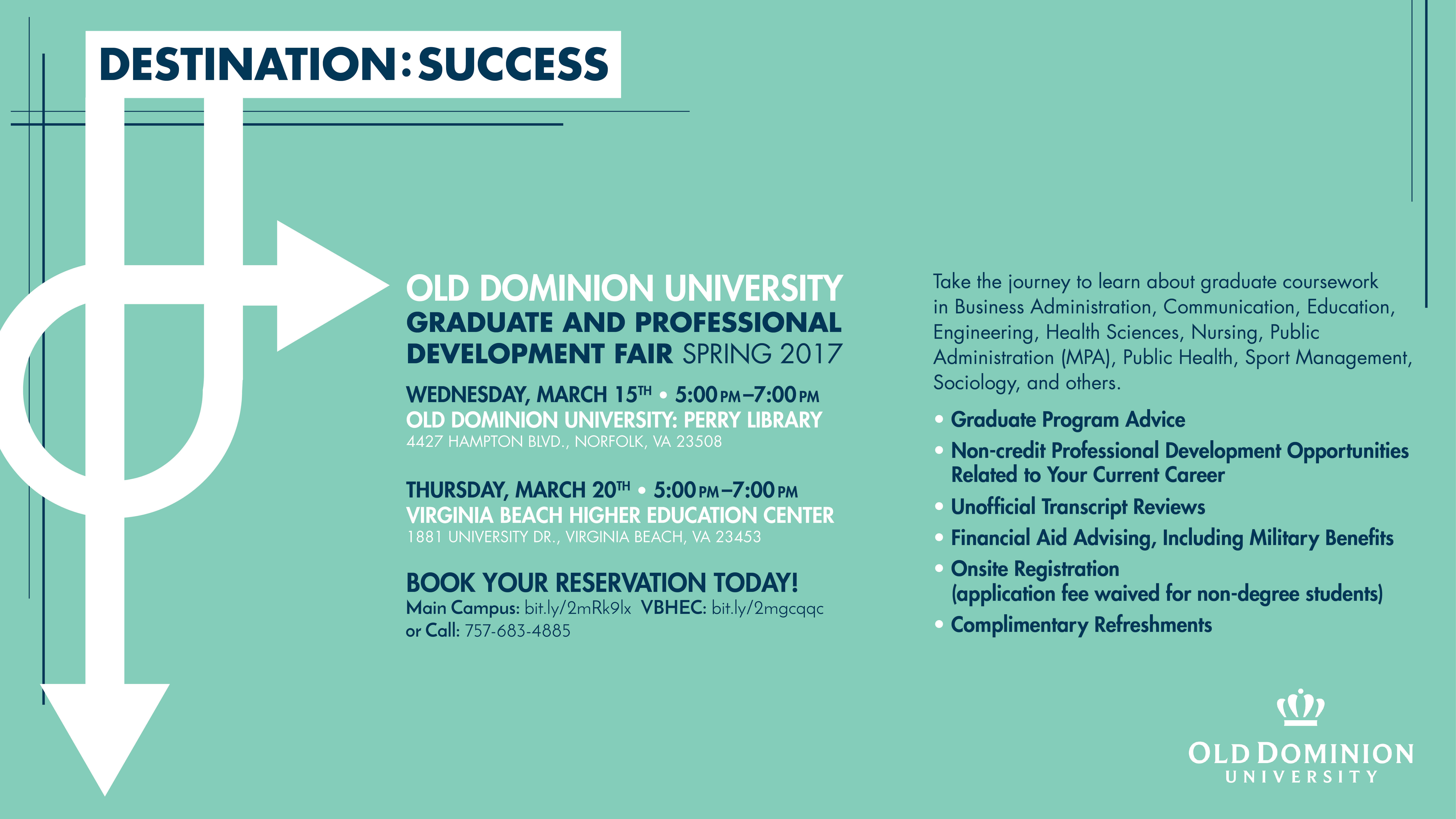 ODU Graduate & Professional Development Fairs