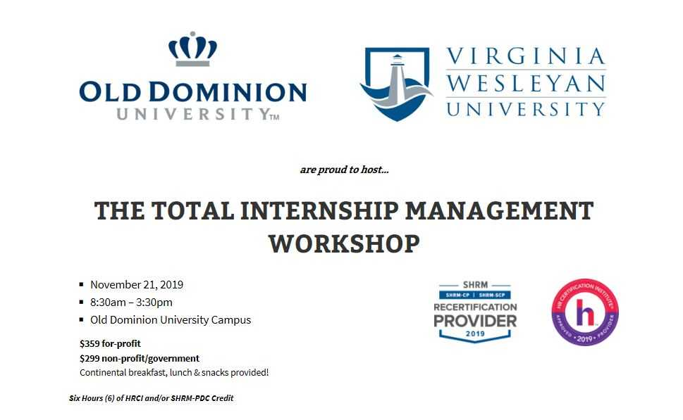 Norfolk Area Total Internship Management Workshop