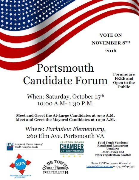 Portsmouth Division to Host Candidates Forum