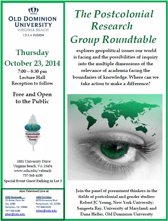 ODU Virginia Beach Hosts a Roundtable by the Postcolonial Research Group