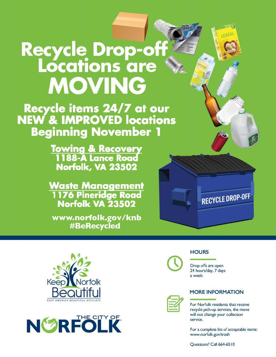 Norfolk Recycle Drop-Off Locations Are Moving
