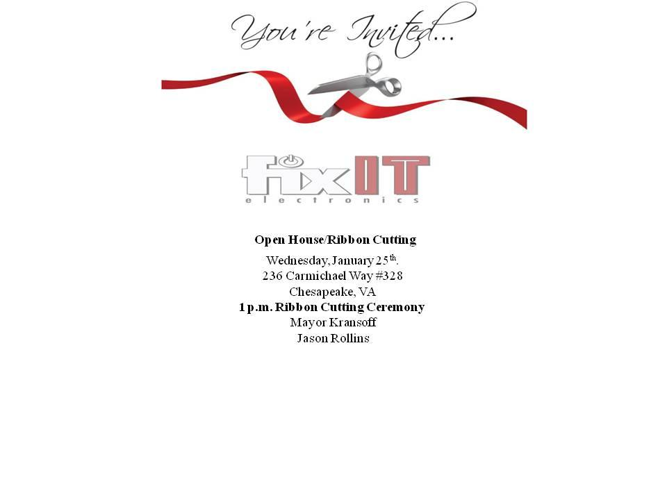 Grand Opening and Ribbon Cutting-FixIT Electronics