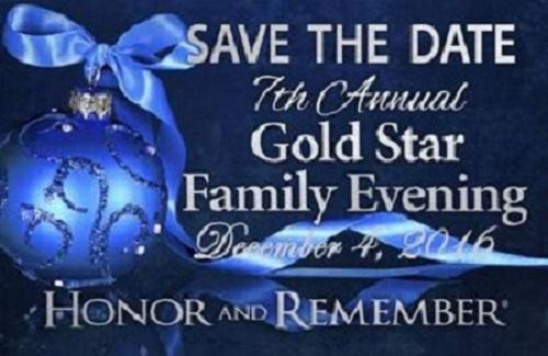 Save The Date For The 7th Annual Gold Star Family Evening