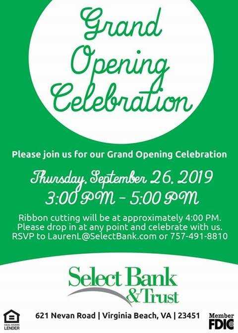 Grand Opening Celebration: Select Bank & Trust