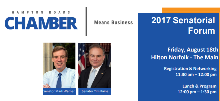 Senators Warner and Kaine Want To Hear From Hampton Roads