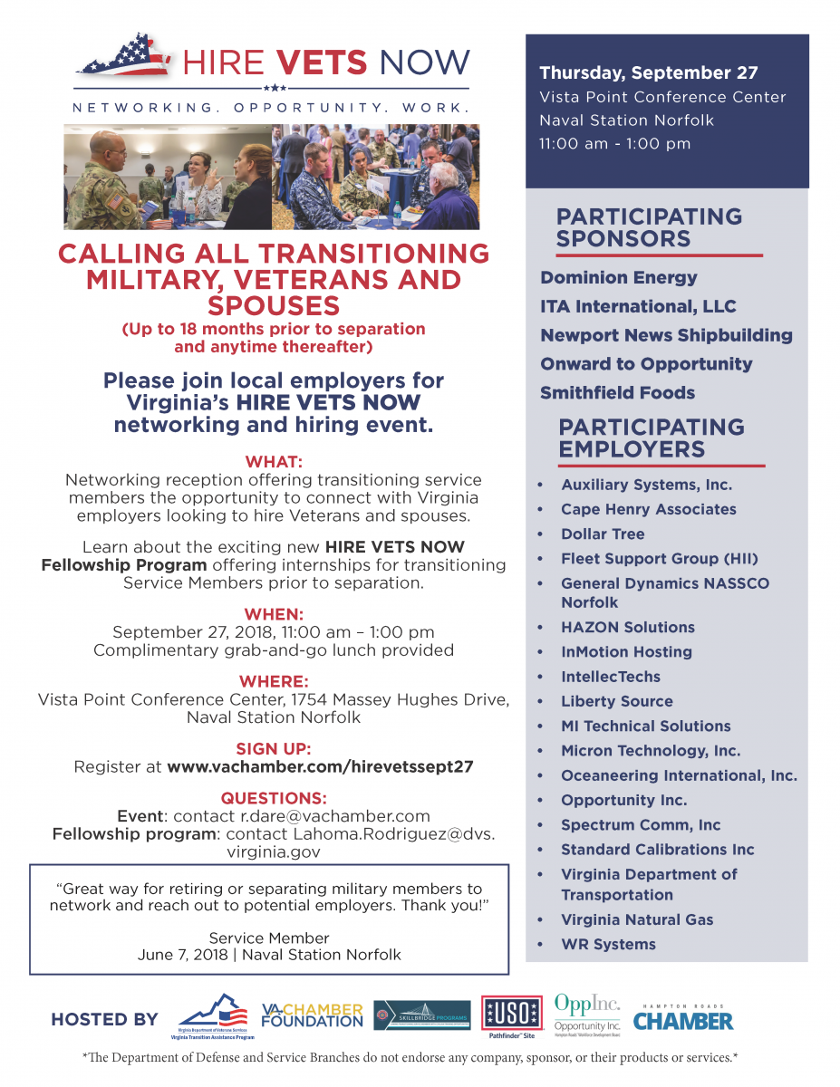 HIRE VETS NOW | Networking Reception