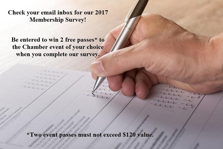 Check Your Inbox and Take Our 2017 Chamber Membership Email Survey