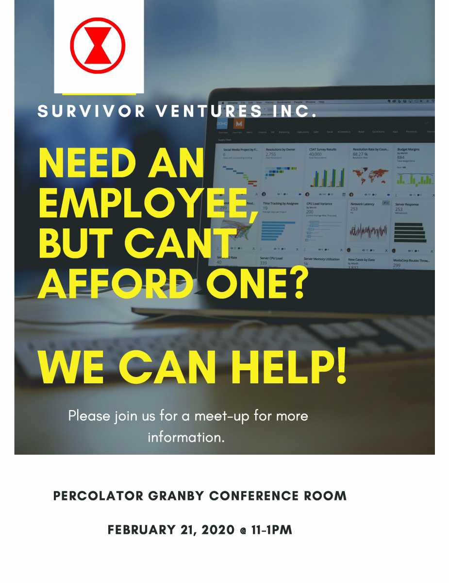 Survivor Ventures Seeking Entrepreneurs