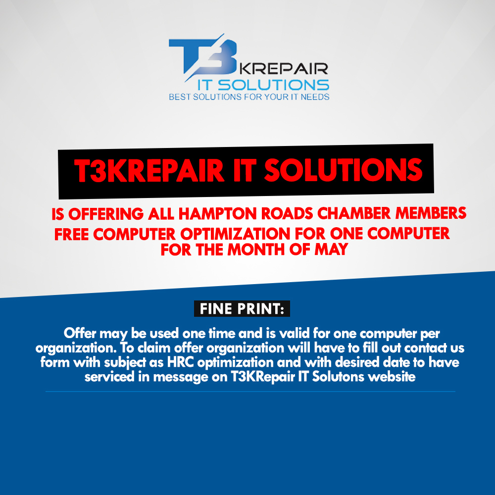 T3KREPAIR IT SOLUTIONS OFFERING FREE COMPUTER SERVICES