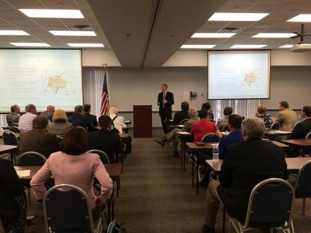 Jim Spore Briefed Chesapeake Division on Challenges The Region Has Faced in Economic Development and Business Creation