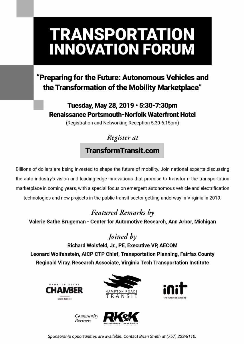 Transportation Innovation Forum 2019