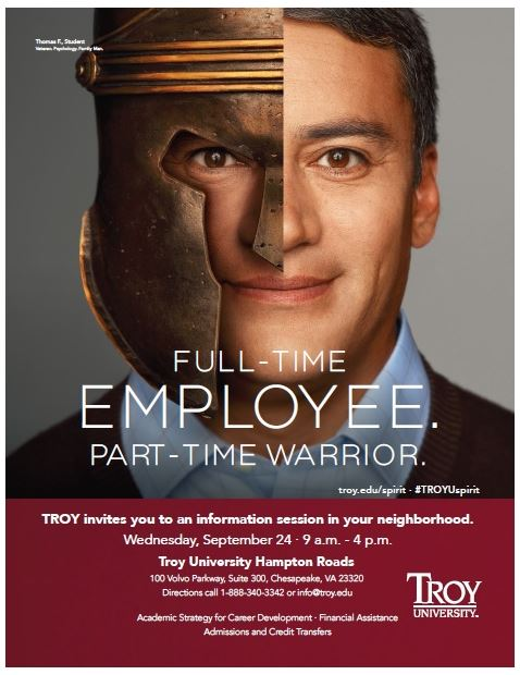 Troy University Hosts an Informational Session in Chesapeake on September 24