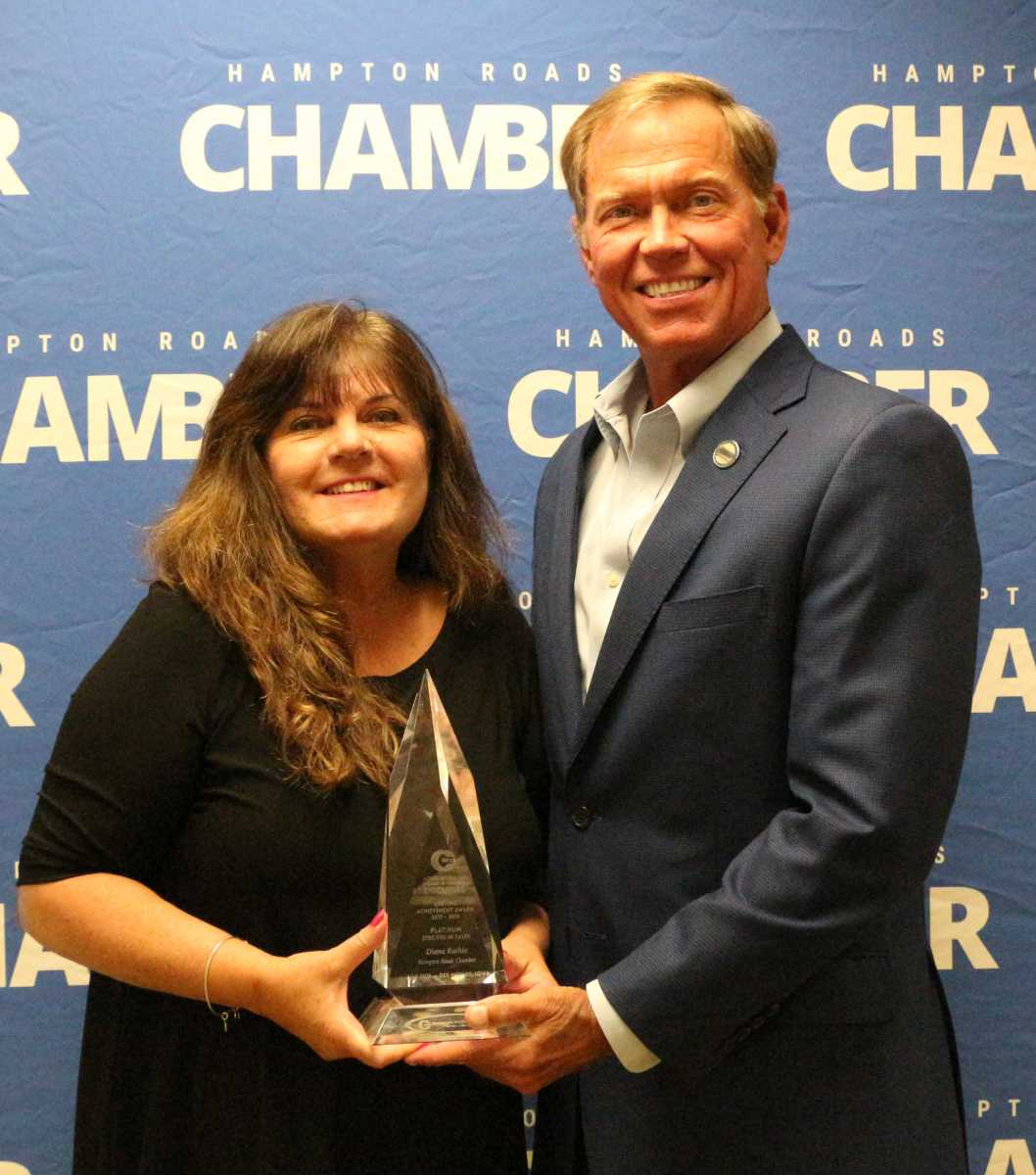 Hampton Roads Chamber's own Diane Raihle has been awarded the Prestigious Platinum Level Lifetime Achievement Award