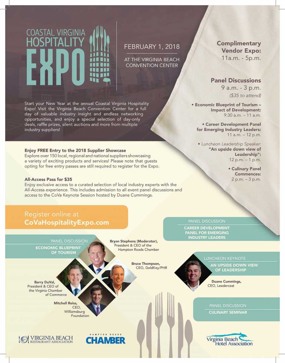 Coastal Virginia Hospitality Expo February 1, 2018