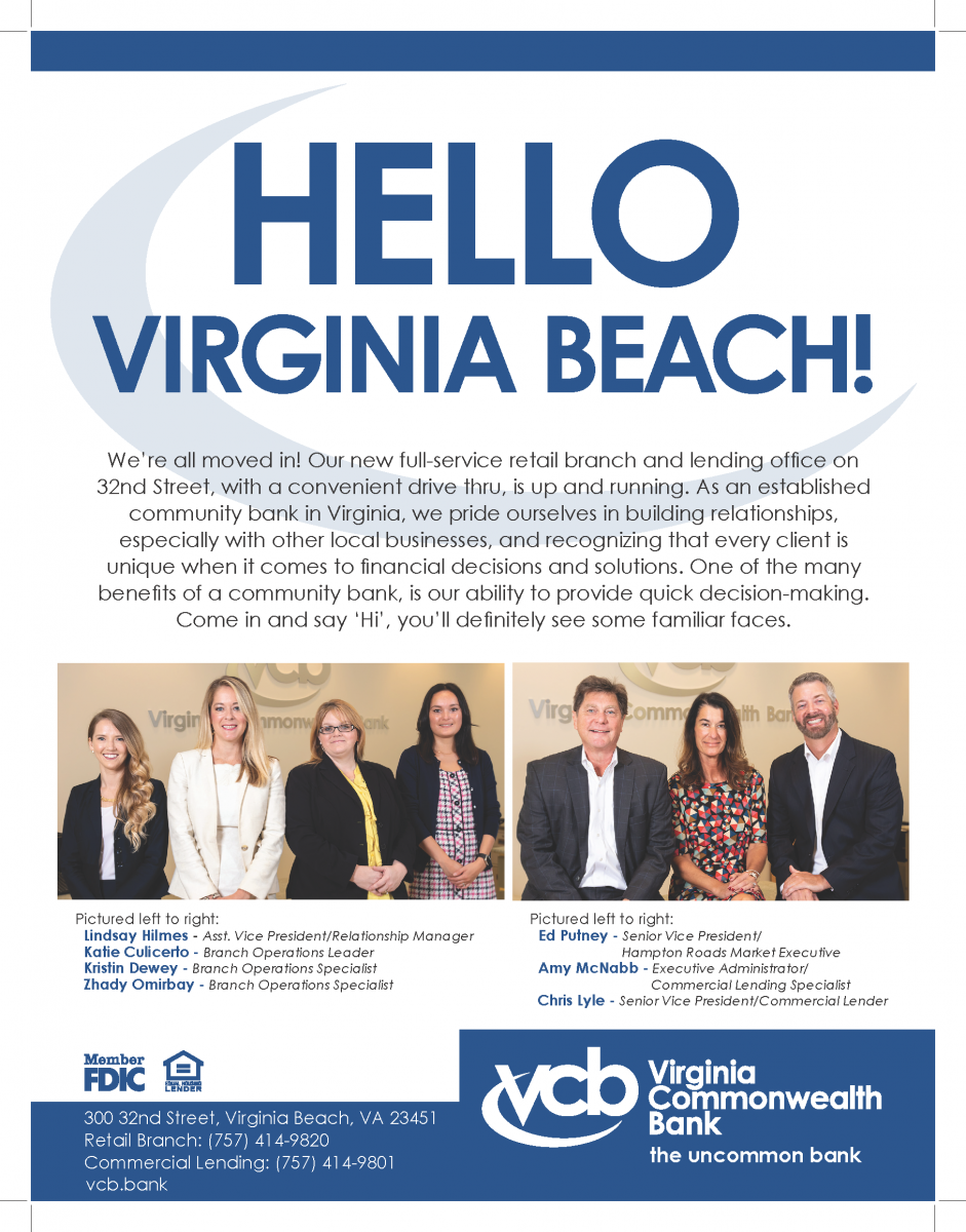 Virginia Commonwealth Bank | New Location in Virginia Beach!