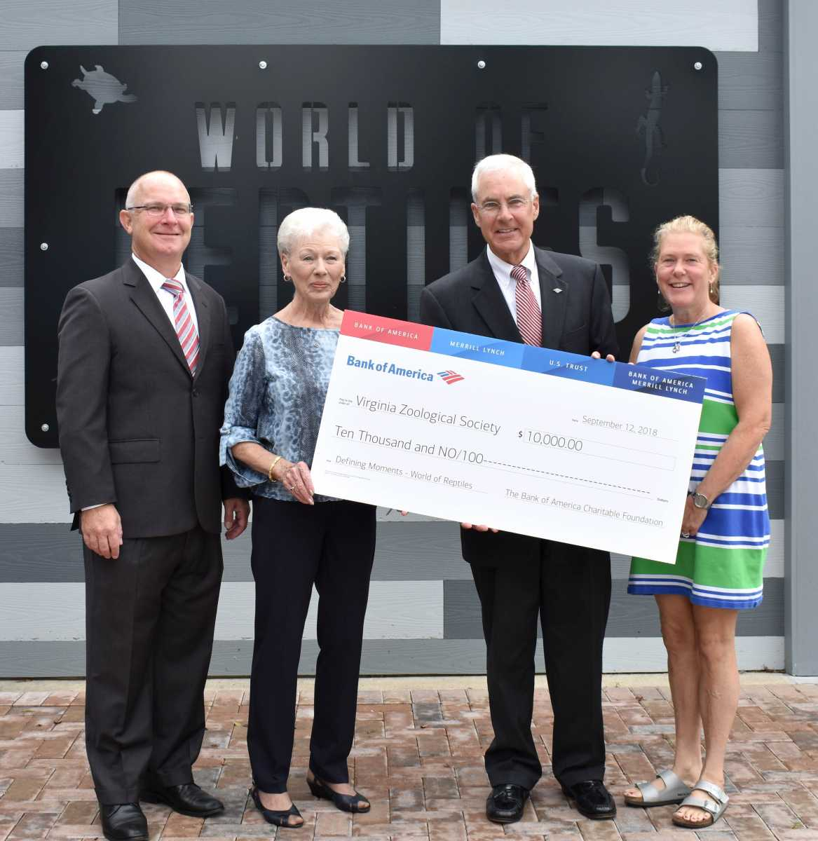 Bank of America Supports Virginia Zoo World of Reptiles