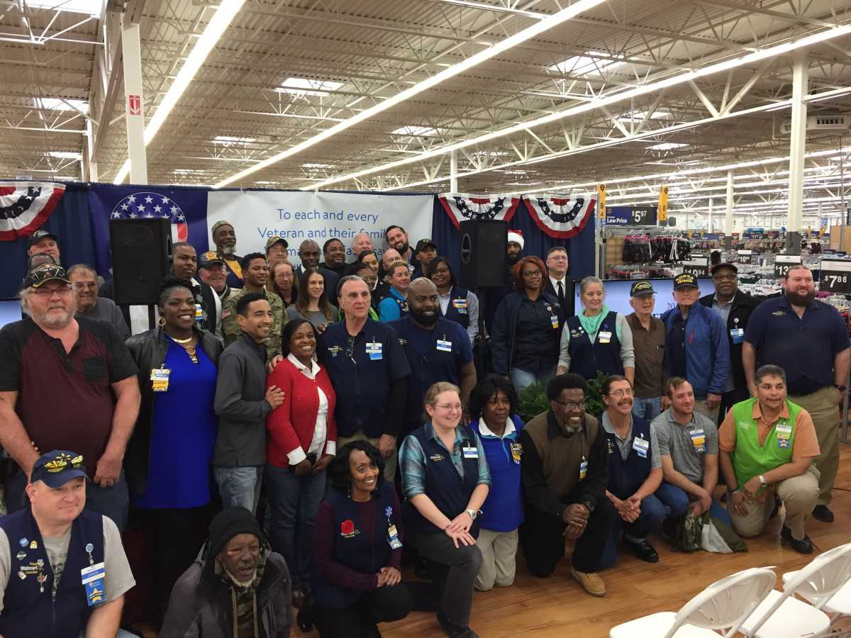 Walmart honors veterans