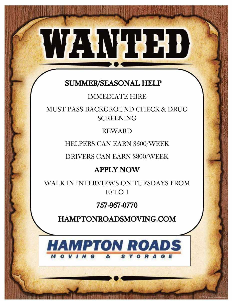 Help Wanted | Hampton Roads Moving & Storage